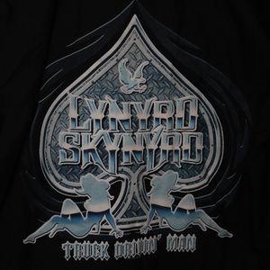Lynyrd Skynyrd Eagle Truck Button Work shirt L